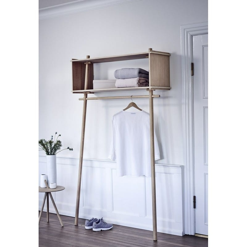 Ambiance Portant vêtement avec étagère en bois Töjbox - 41369 - 120200 (1)