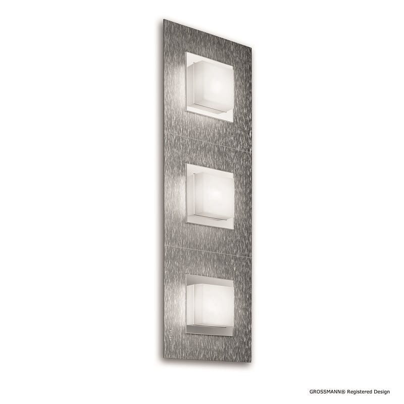 Applique ou plafonnier Grossmann led aluminium Basic 3 lumières - 46503 - 73-790-072