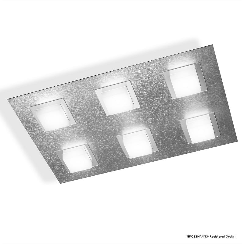 Plafonnier ou applique Grossmann led aluminium Basic 6 lumières - 46505 - 76-790-072