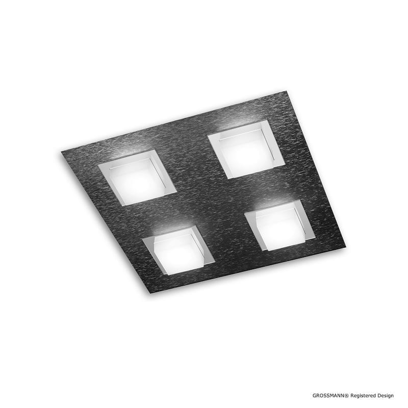 Plafonnier ou applique Grossmann led anthracite Basic 4 lumières - 46500 - 74-790-019