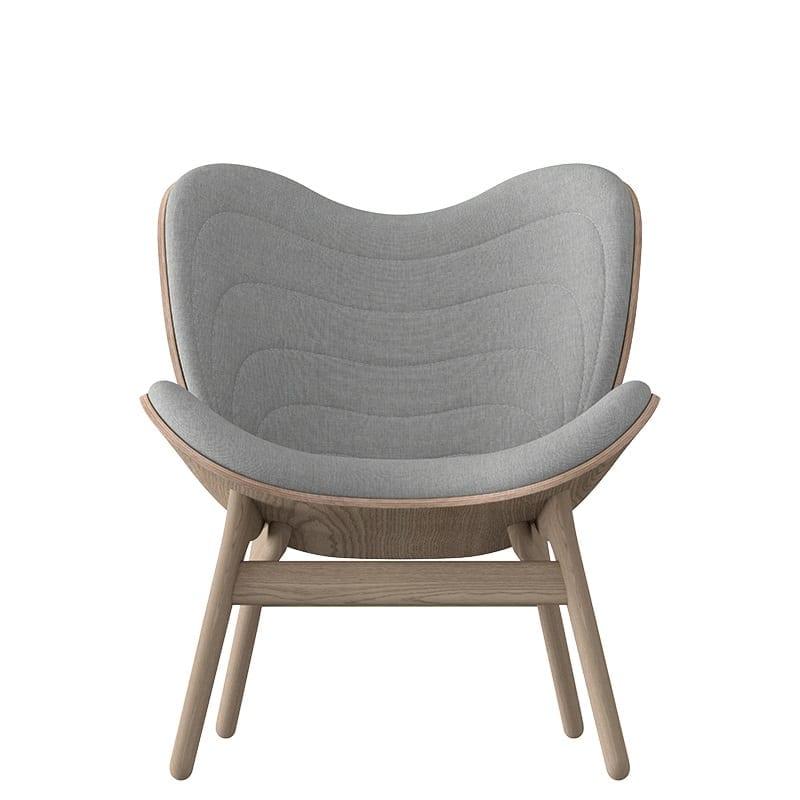 Petit fauteuil confortable A Conversation Piece chêne et gris - 46802 - 5506