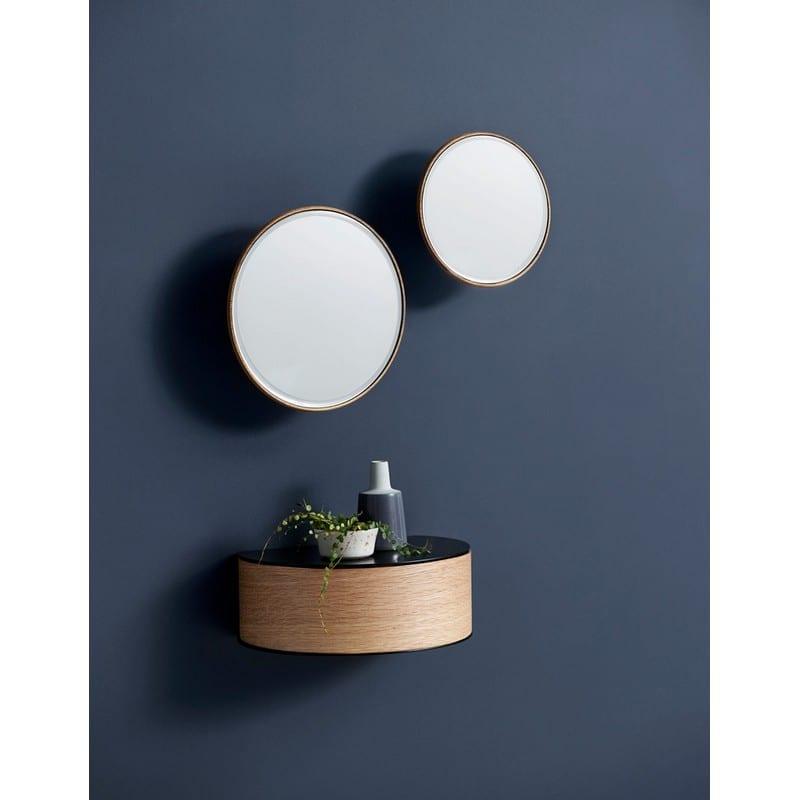 AmbianceTiroir mural Wallie en métal noir et chêne clair Woud - 45801 - 140170