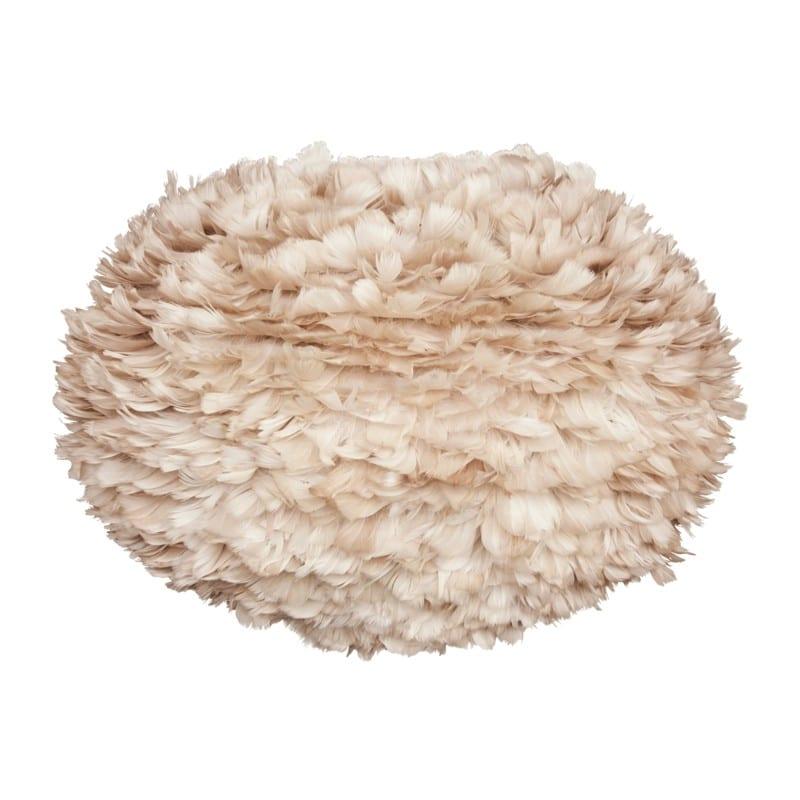 Abat-jour plumes d'oies Eos large 65 cm marron clair Umage - 2089