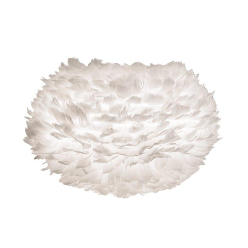 Abat-jour plumes d'oies Eos medium 45 cm blanche Umage - 2010