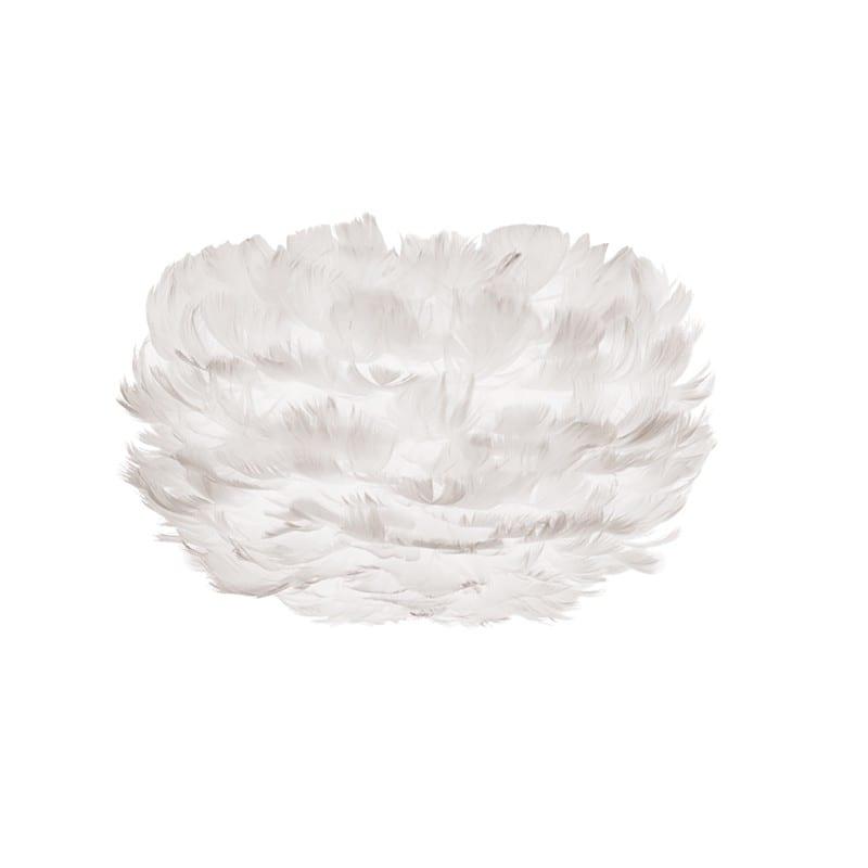 Abat-jour plumes d'oies Eos micro 22 cm blanche Umage - 43705 - 2091