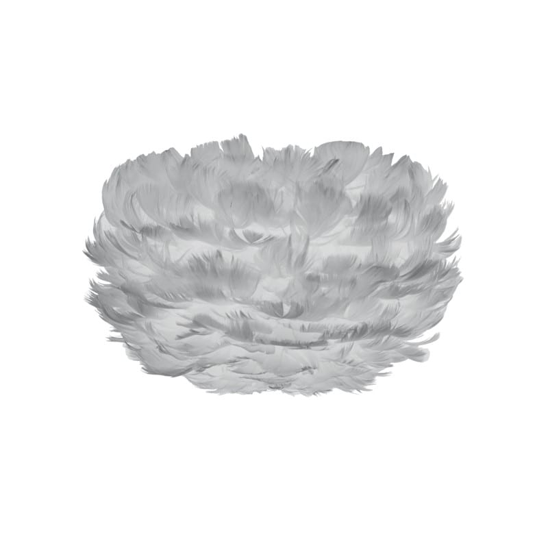 Abat-jour plumes d'oies Eos micro 22 cm gris clair Umage - 2123