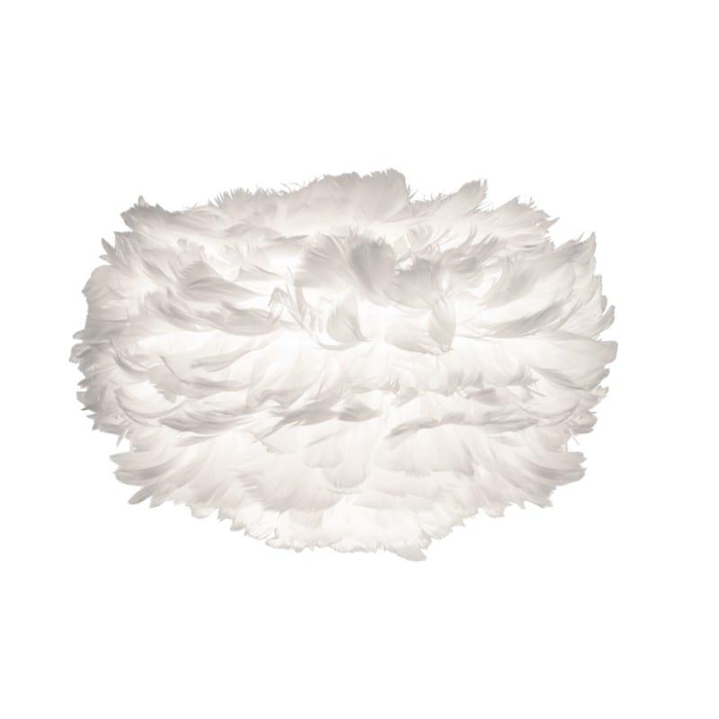 Abat-jour plumes d'oies Eos mini 35 cm blanche Umage - 11917 - 2011