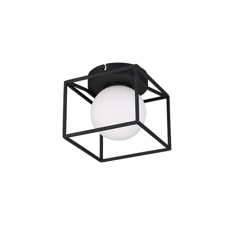 Applique ou plafonnier Gabbia noir mat - 48933 - R20401032