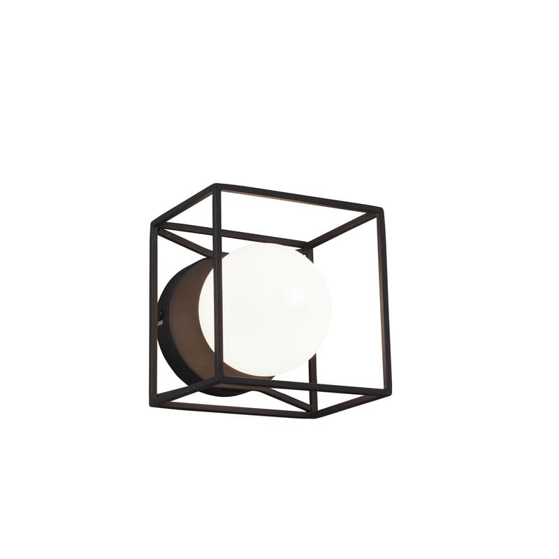 Applique ou plafonnier Gabbia noir mat allumé - 48933 - R20401032