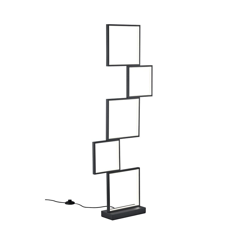 Lampadaire Sorrento LED noir mat - 49606 - 427710532