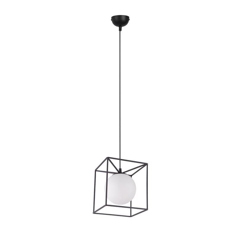 Suspension Gabbia noir mat 1 lumière - 48932 - R30401032