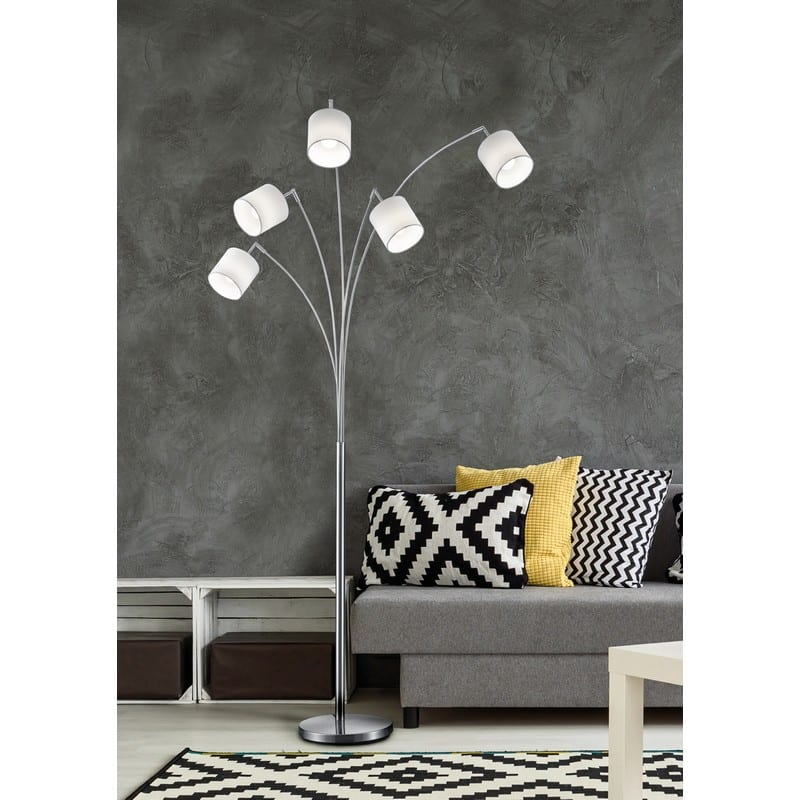 ambiance Lampadaire arc Tommy nickel mat 5 lumières - 49392 - R46330501